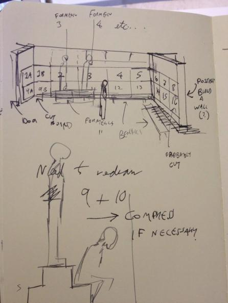 Sketch plans for the final display